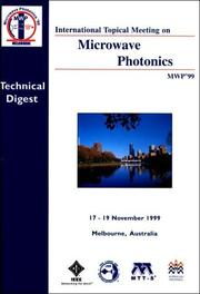 Cover of: International Topical Meeting on Microwave Photonics