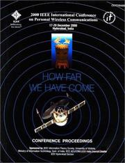 Cover of: 2000 IEEE International Conference on Personal Wireless Communications