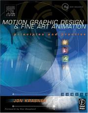 Cover of: Motion graphic design, fine art animation | Jon S. Krasner