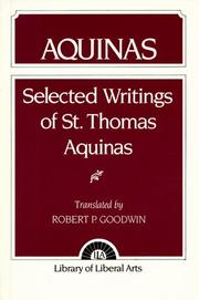 Cover of: Aquinas | Robert P. Goodwin