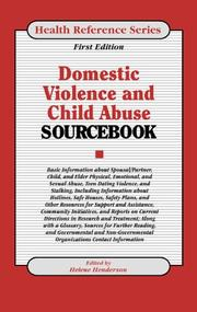 Cover of: Domestic Violence and Child Abuse Sourcebook |