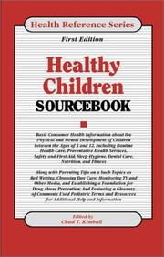 Cover of: Healthy Children Sourcebook