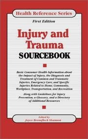 Cover of: Injury and Trauma Sourcebook | Joyce Brennfleck Shannon