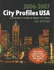 Cover of: City Profiles USA 2006-2007 |