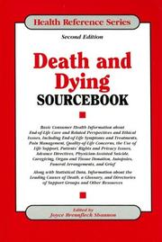 Cover of: Death And Dying Sourcebook | Joyce Brennfleck Shannon