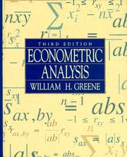 Econometric analysis by Greene, William H.