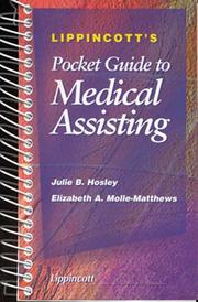 Cover of: Lippincott's pocket guide to medical assisting