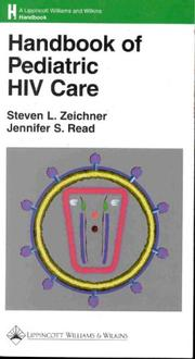 Cover of: Handbook of pediatric HIV care |