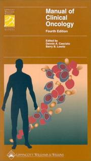 Cover of: Manual of Clinical Oncology (Periodicals) |