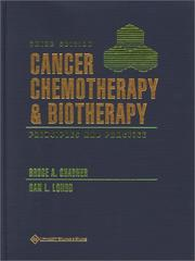 Cover of: Cancer Chemotherapy and Biotherapy |