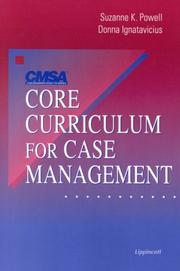 Cover of: CMSA's Core Curriculum for Case Management
