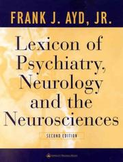 Lexicon of Psychiatry, Neurology, and the Neurosciences