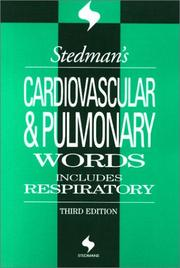 Cover of: Stedman's Cardiovascular & Pulmonary Words