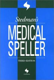 Cover of: Stedman's Medical Speller (Stedman's Word Books.)