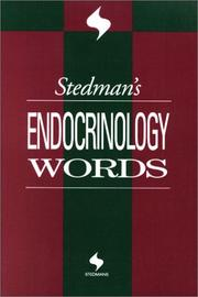 Cover of: Stedman's Endocrinology Words (Stedman's Word Books)