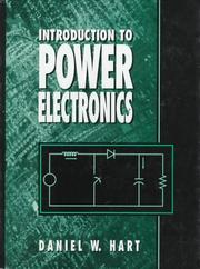 Cover of: Introduction to power electronics