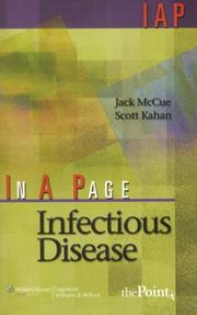 Cover of: In A Page Infectious Disease (In a Page Series) | Jack McCue