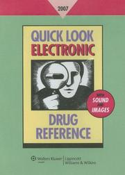 Cover of: Quick Look Electronic Drug Reference 2007 | Leonard L Lance