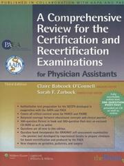 Cover of: A Comprehensive Review for the Certification and Recertification Examinations for Physician Assistants | Claire Babcock O