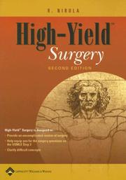 Cover of: High-yield surgery | R. Nirula