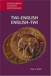 Cover of: Twi-English/English-Twi dictionary