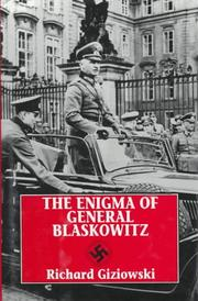 Cover of: The enigma of General Blaskowitz
