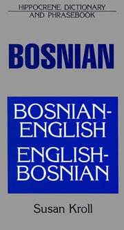 Cover of: Dic Bosnian-English/English-Bosnian Dictionary and Phrasebook (Dictionary & Phrasebooks Backlist) | Susan Kroll