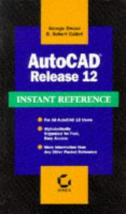Cover of: AutoCAD release 12 instant reference
