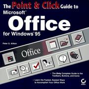 Cover of: The point and click guide to Microsoft Office for Windows 95