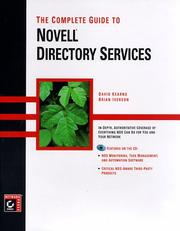 Cover of: The complete guide to Novell directory services
