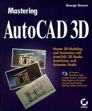 Cover of: Mastering AutoCAD 3D