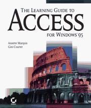 Cover of: The learning guide to Access for Windows 95