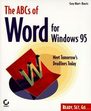 Cover of: The ABCs of Word for Windows 95