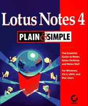 Cover of: Lotus Notes 4 plain & simple | Rupert Clayton