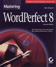 Cover of: Mastering WordPerfect 8