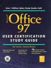 Cover of: Microsoft Office 97 user certification study guide