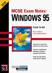 MCSE exam notes by Rick Sawtell