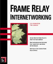 Cover of: Frame relay internetworking
