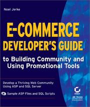 Cover of: E-Commerce Developer's Guide to Building Community and Using Promotional Tools