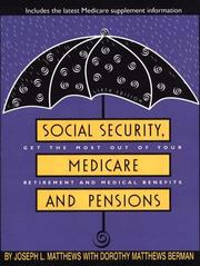 Cover of: Social security, medicare, and pensions