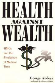 Cover of: Health against wealth