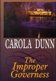 Cover of: The Improper Governess
