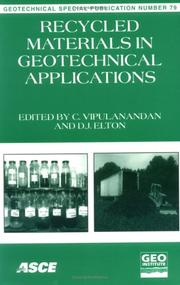 Cover of: Recycled Materials in Geotechnical Applications |