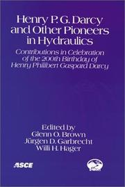Cover of: Henry P.G. Darcy and other pioneers in hydraulics
