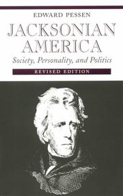 Cover of: Jacksonian America