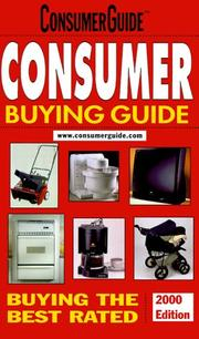 Cover of: Consumer Buying Guide 2000 (Consumer Buying Guide, 2000) | Consumer Guide editors