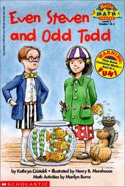 Cover of: Even Steven and Odd Todd (Hello Reader! Math Level 3) | Kathryn Cristaldi