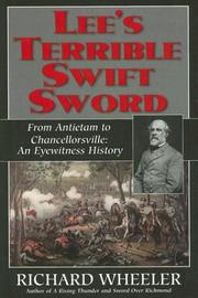 Cover of: Lee's Terrible Swift Sword: From Antietam to Chancellorsville: An Eyewitness History