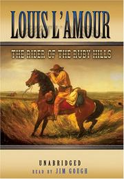 Cover of: The rider of the Ruby Hills