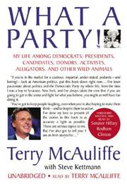 Cover of: What a Party!: My Life Among Democrats | Terry Mcauliffe